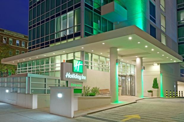 Holiday Inn Long Island City exterior at night