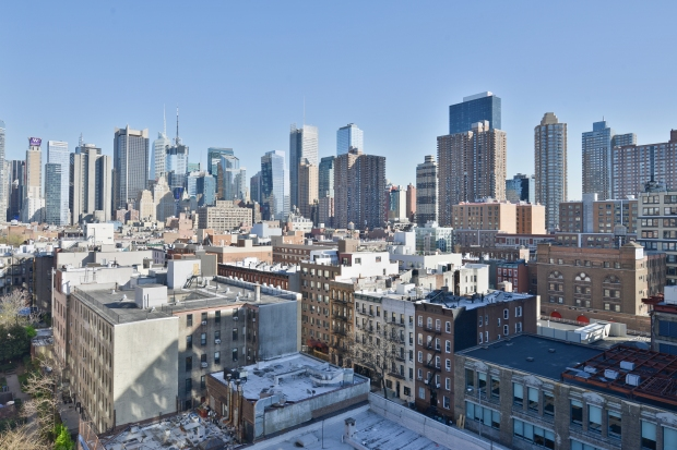 view of NYC skyline from Midtown New York