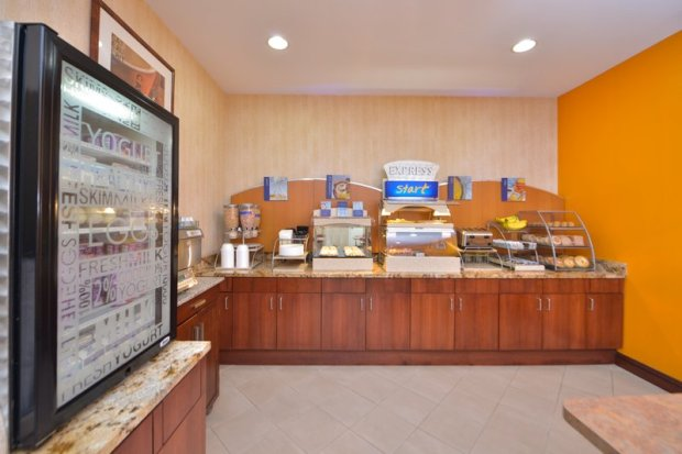 Holiday Inn Express LaGuardia Airport breakfast area