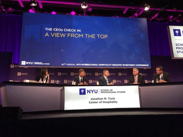 panel discussion at the 40th Annual NYU International Hospitality Industry Investment Conference